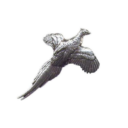 Flying Pheasant Pewter Pin