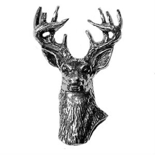 Stag Head Pewter Pin