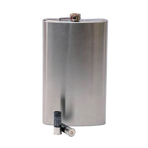 Huge stainless steel hip flask