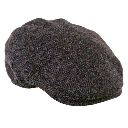 Harris Tweed Flat Cap Brown Barley