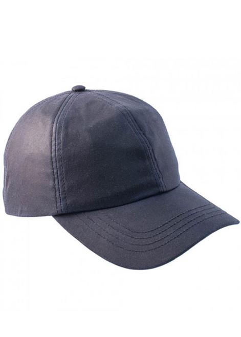 Navy wax baseball cap