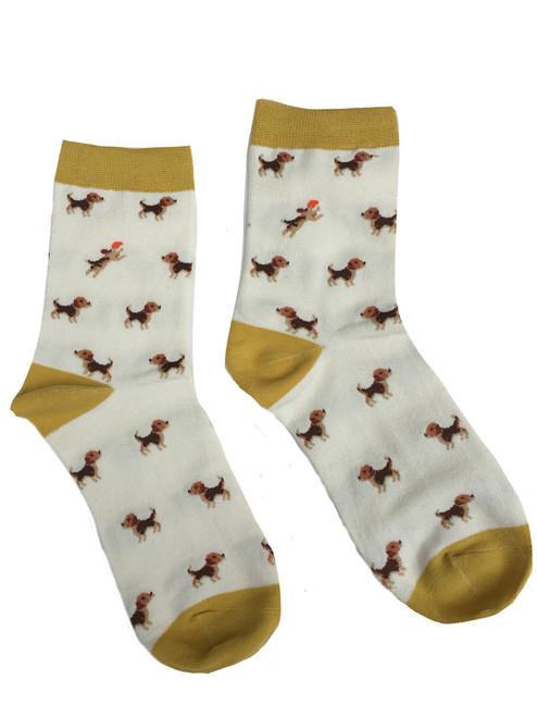Beagle Design Ankle Socks