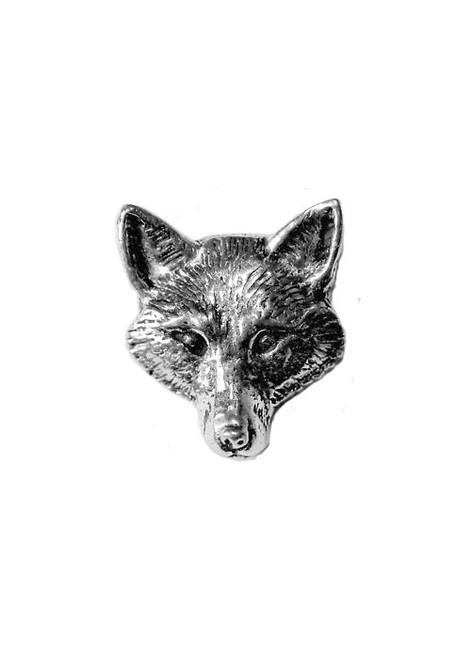 Fox Head Pewter Pin