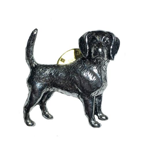 Beagle Pewter Pin