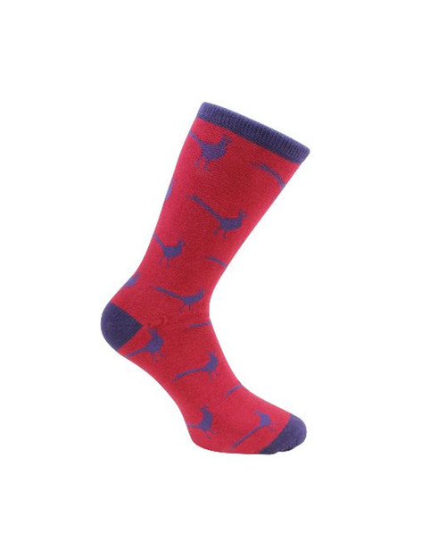 Pheasant themed socks