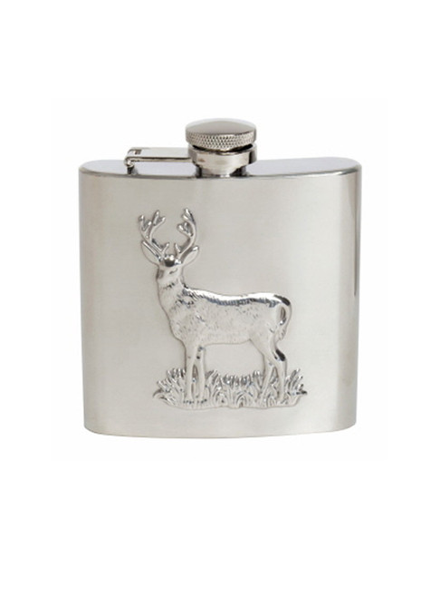 Stag Embossed Hip Flask Gift