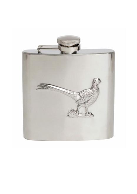 Pheasant Embossed Hip Flask