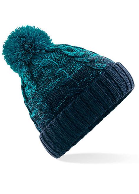 Ladies Pom Pom Beanie Hat