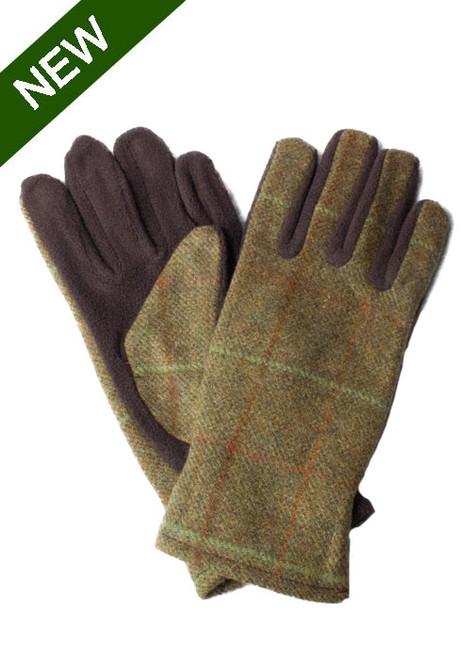 Womens Tweed Fleece Gloves
