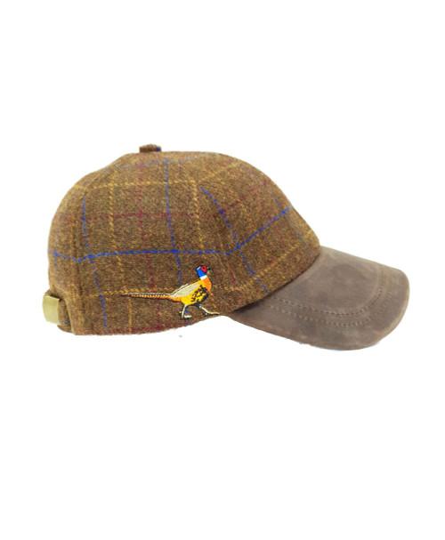 Pheasant Tweed Baseball Caps - Brown