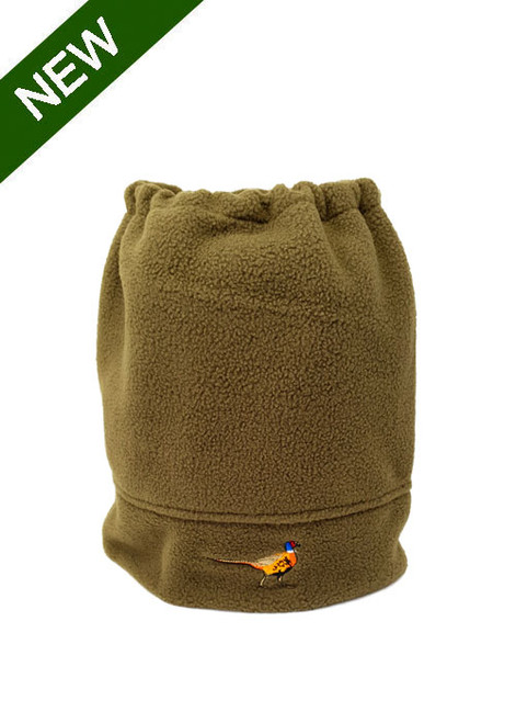 Fleece Neck Warmer with Pheasant Embroidery