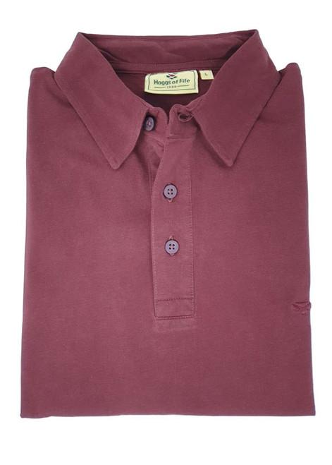 Hoggs of Fife Crail Short Sleeve Polo Shirt - Rum