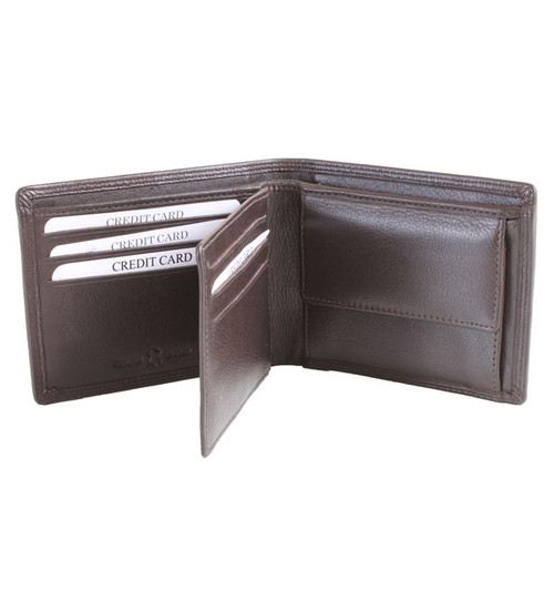Leather Wallet with Coin Pouch