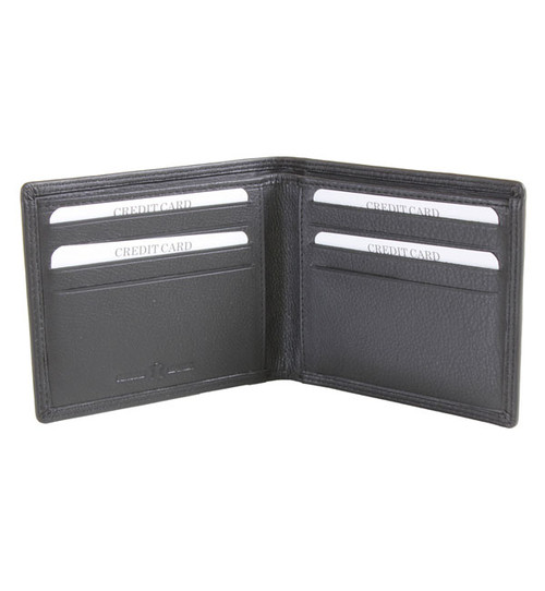 Brown Billfold Leather Wallet Unlined