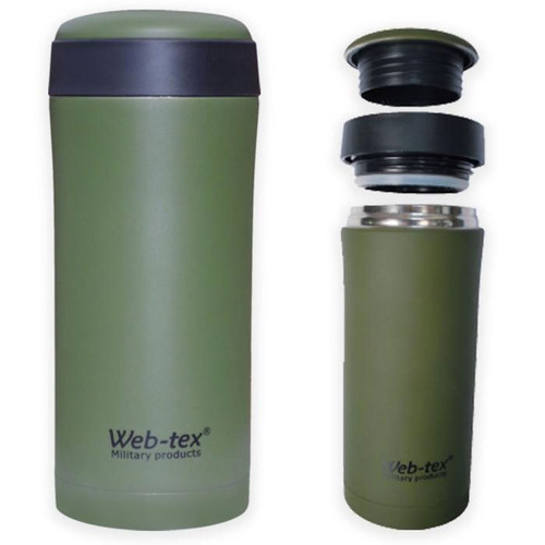 Web-tex stainless steel flask