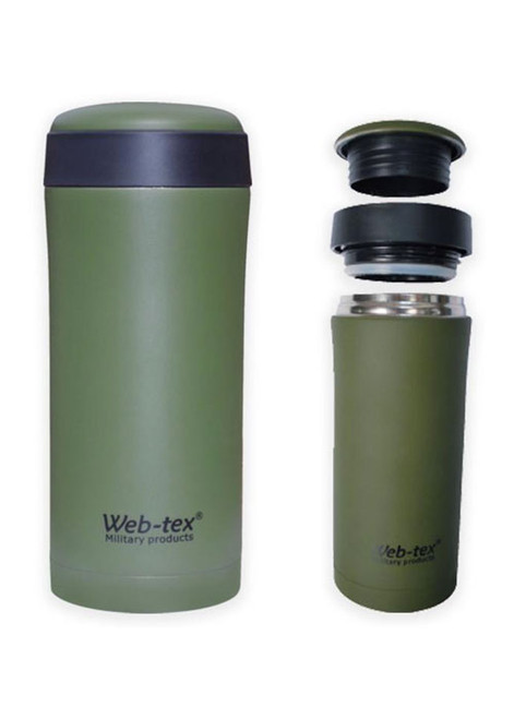 Small stainless steel flask