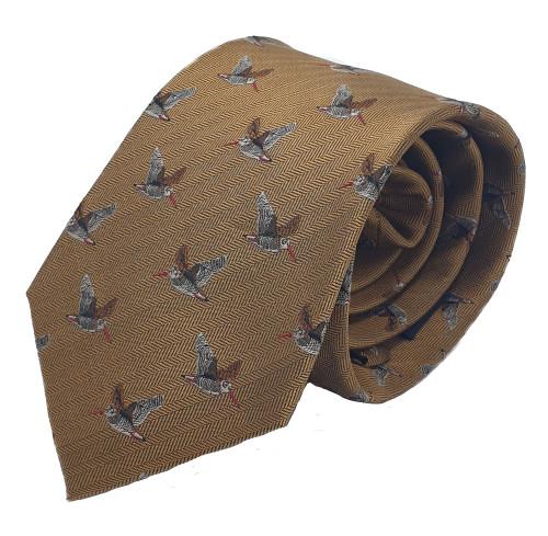 Bonart Silk Tie Woodcock Design