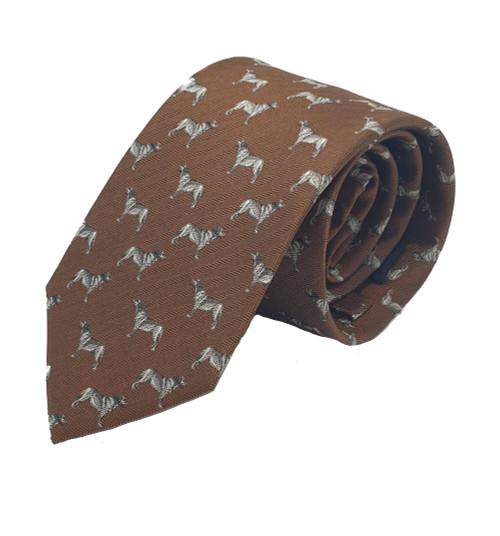 Bonart Dog Silk Tie