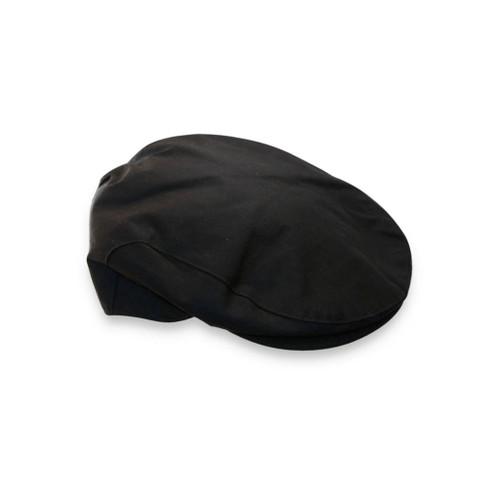 Brown Wax Flat Cap