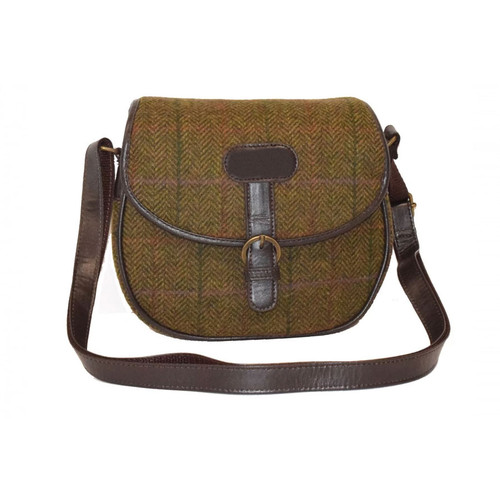 Elise Tweed Saddle Bag