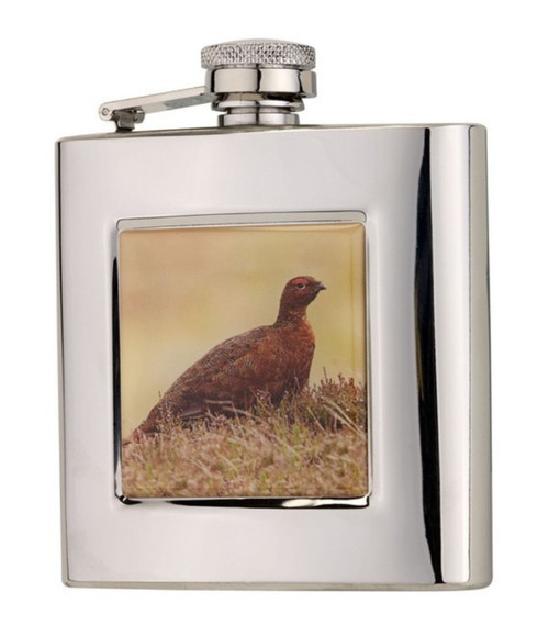 Stainless Steel Grouse Hip Flask