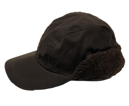 Brown Wax Trapper Hat