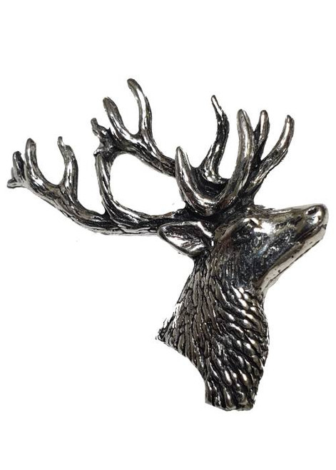 Stag's Head Pewter Pin