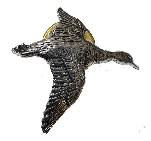 Single Flying Mallard Pewter Pin