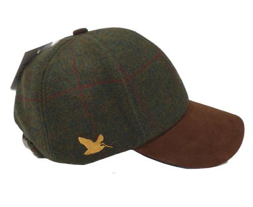Woodcock tweed baseball cap