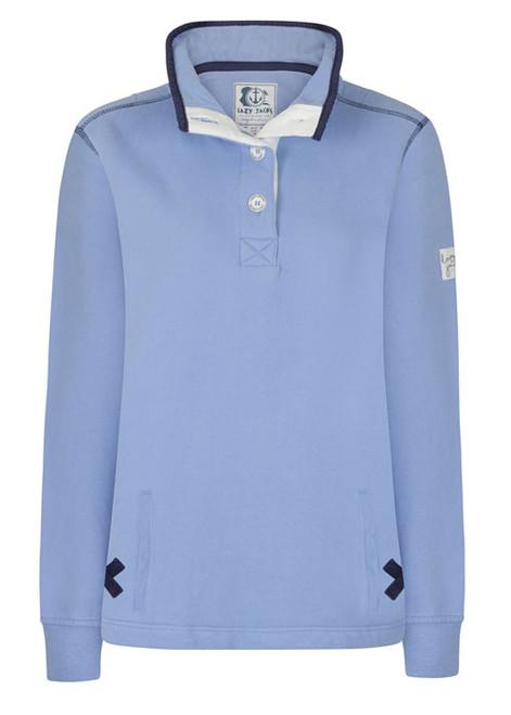 Lazy Jacks Buttoned Neck Sweatshirt
