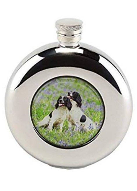 Hip Flask with Springer Spaniels