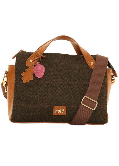 Dark Brown Tweed Handbag