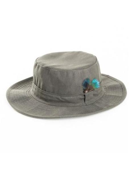 Wax wide brim hat