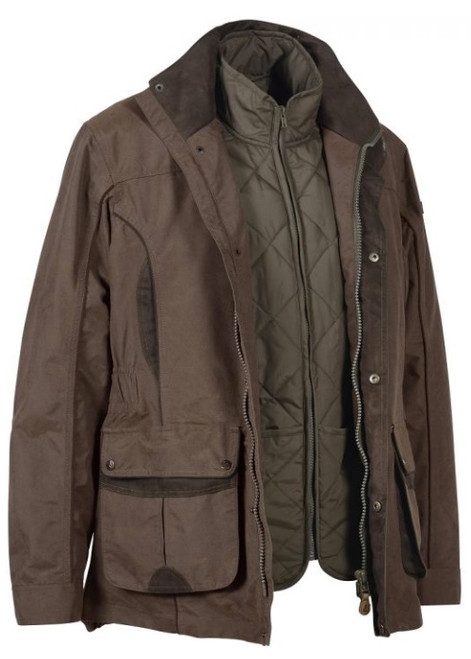 Percussion Normandie 3 in 1 Jacket Brown