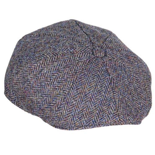 Harris Tweed Bakerboy cap Slate