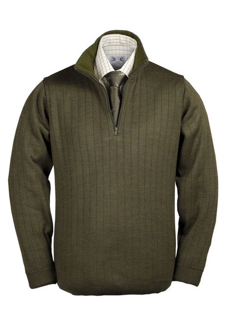 Medium weight zip neck shooters pullover