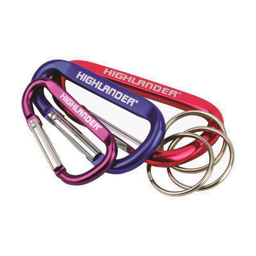Assorted Karabiner Key Rings - 3pcs - ideal for attaching things to belt loops
