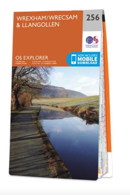 OS Explorer Map - Wrexham and Llangollen