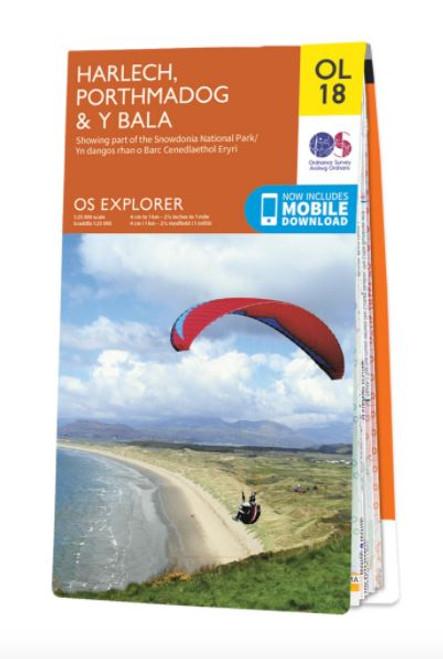 OS Explorer Map - Harlech, Porthmadog and Y Bala