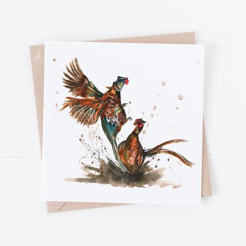 Pheasants Greetings Cards