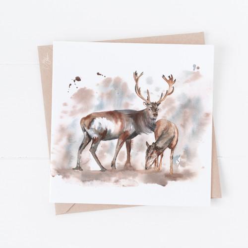 Stag & Doe Greetings Card