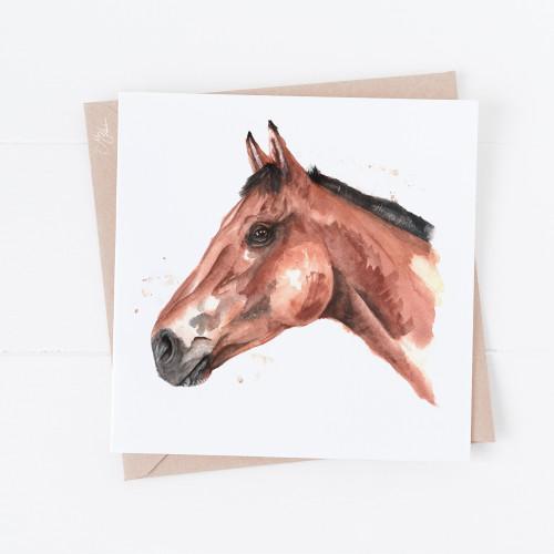 Horses Head Greetings Card