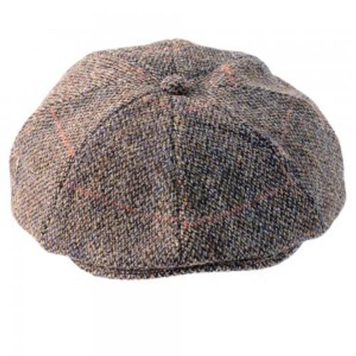 Grey 8pc Harris Tweed Cap