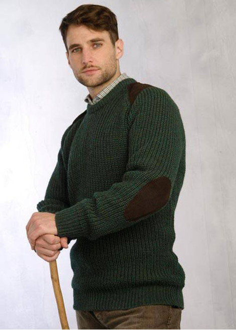 Fishermans Sweater Moss Olive