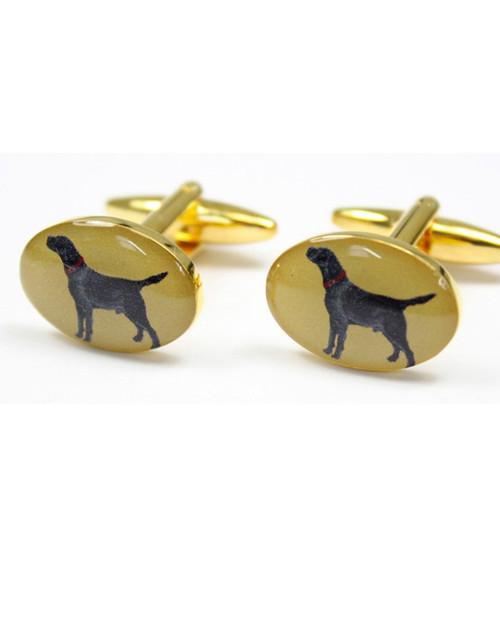 Black Labrador Cufflinks