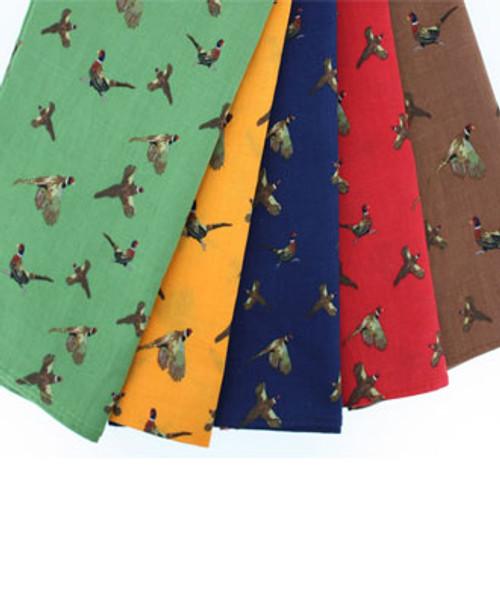 Pack 5 Pheasant Design Hankies
