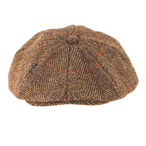 Harris Tweed Baker Boy Cap - Gold