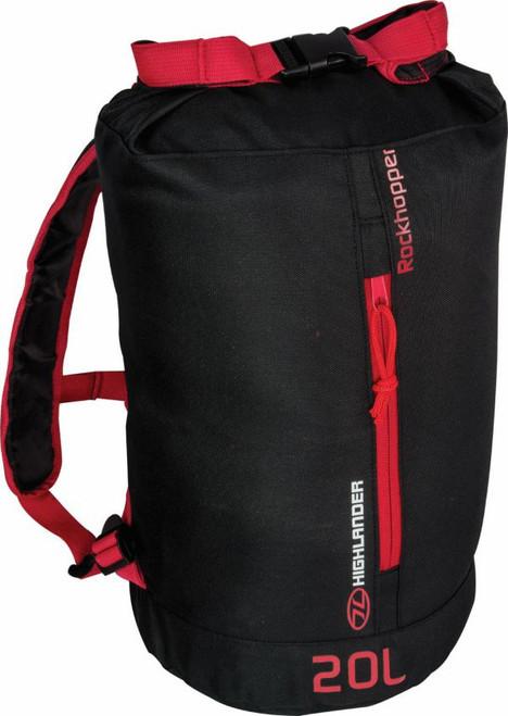 Rockhopper Roll Top Daypack - 20litre - Black/Red
