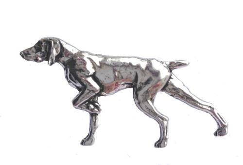 Pointer Dog Pewter Pin