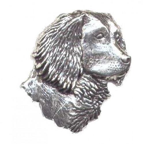 Spaniel Head Pewter Pin